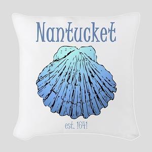 Nantucket Est. 1641 Scallop Shell Woven Throw Pill