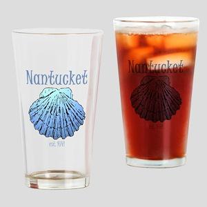 Nantucket Est. 1641 Scallop Shell Drinking Glass