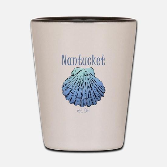 Nantucket Est. 1641 Scallop Shell Shot Glass