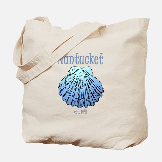Nantucket Est. 1641 Scallop Shell Tote Bag