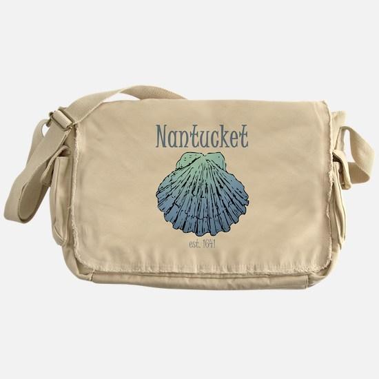 Nantucket Est. 1641 Scallop Shell Messenger Bag
