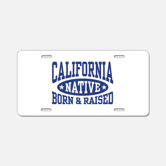 California Native Aluminum License Plate