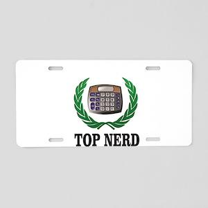 top nerd Aluminum License Plate