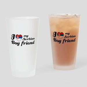 lovebfserbianwhite Drinking Glass