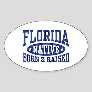 Florida Native Sticker (Oval)