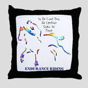 Endurance Riding Throw Pillow