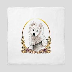 Samoyed Puppy Holiday Queen Duvet
