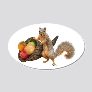 Squirrel with Cornucopia Wall Decal