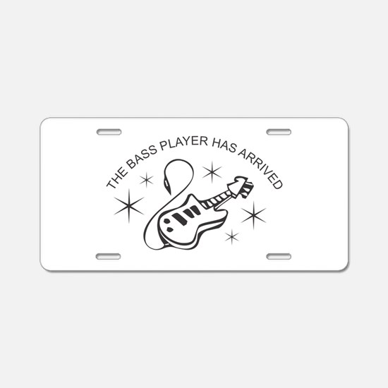 Bass Player Aluminum License Plate