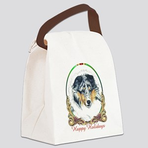 Shetland Sheepdog Blue Merle Happ Canvas Lunch Bag