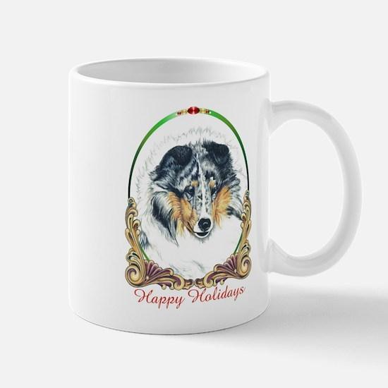 Shetland Sheepdog Blue Merle Happy Holi Mug