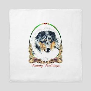 Shetland Sheepdog Blue Merle Happy Hol Queen Duvet