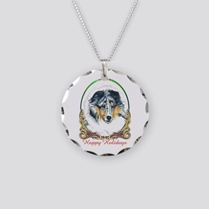 Shetland Sheepdog Blue Merle Necklace Circle Charm