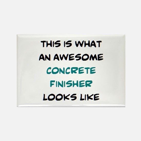 awesome concrete finisher Rectangle Magnet