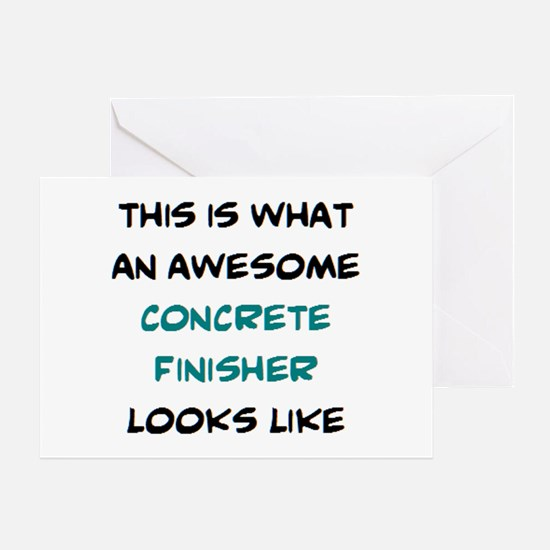 awesome concrete finisher Greeting Card