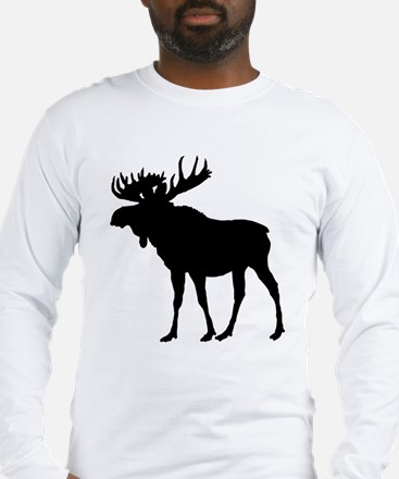 Moose: Black Long Sleeve T-Shirt