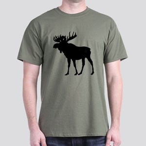 Moose: Black Dark T-Shirt