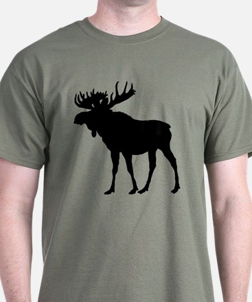 Moose: Black T-Shirt