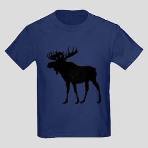 Moose: Black Kids Dark T-Shirt