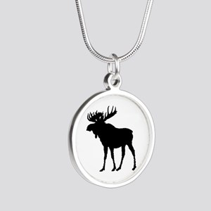 Moose: Black Silver Round Necklace