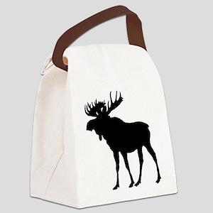 Moose: Black Canvas Lunch Bag