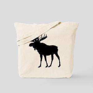 Moose: Black Tote Bag