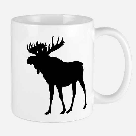 Moose: Black Mug