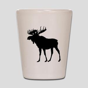 Moose: Black Shot Glass