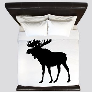 Moose: Black King Duvet