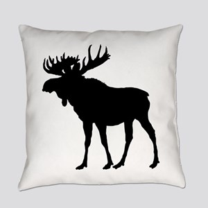 Moose: Black Everyday Pillow