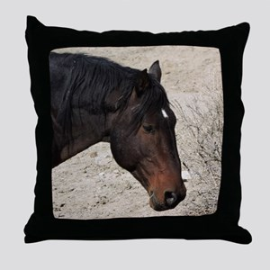 Wild Horses of Sand Wash Basin Throw Pillow