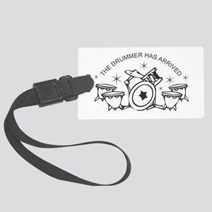 Drummer Large Luggage Tag
