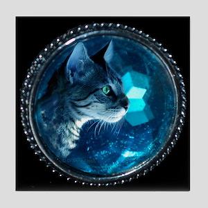 Space Kitty Tile Coaster