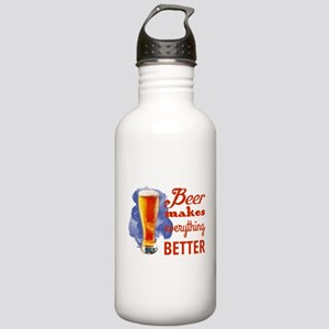Beer Makes Everything Stainless Water Bottle 1.0L