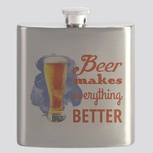 Beer Makes Everything Better Flask