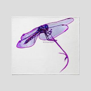 Elusive Dragonfly Throw Blanket
