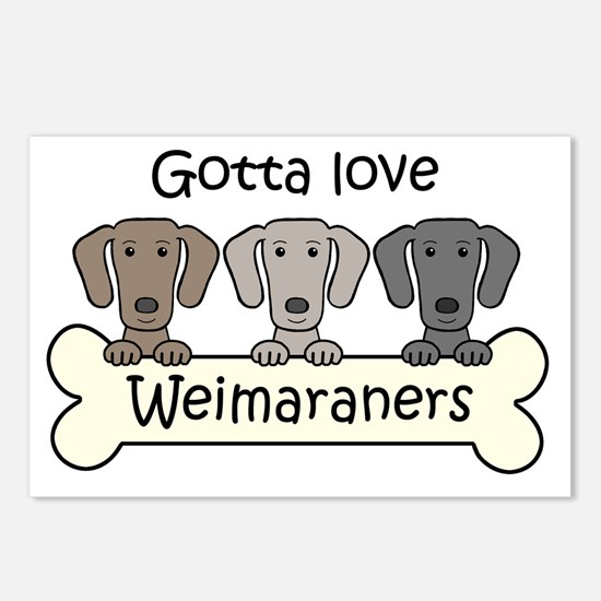 Unique Weimaraners Postcards (Package of 8)