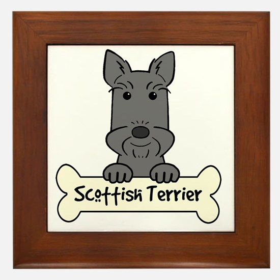 Cute Scottie puppy Framed Tile