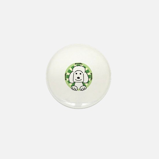 Cool Standard poodle cartoon Mini Button