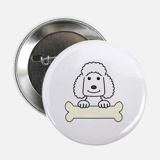 "Standard poodle cartoon 2.25"" Button"
