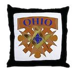Ohio Mason Throw Pillow