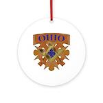 Ohio Mason Ornament (Round)