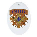 Ohio Mason Oval Ornament