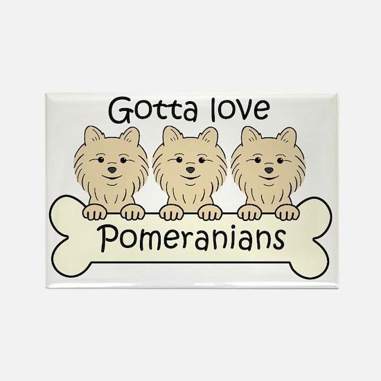 Unique Pomeranian lover Rectangle Magnet