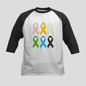 SIx Awareness Ribbons Baseball Jersey