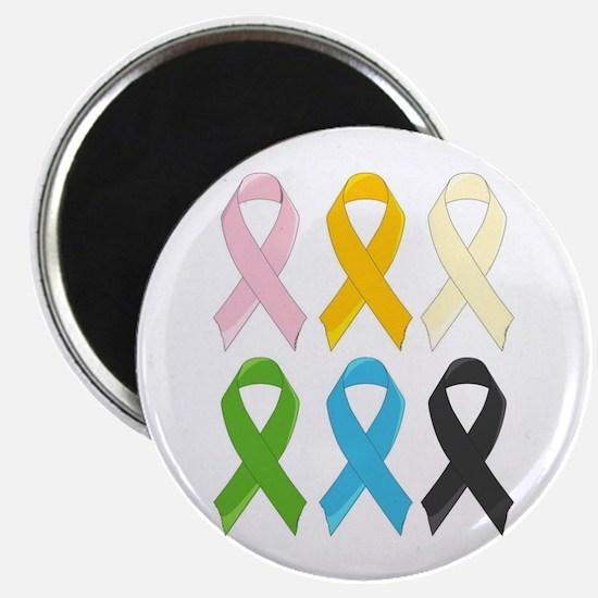SIx Awareness Ribbons Magnets