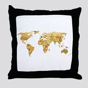 'Golden World' Throw Pillow