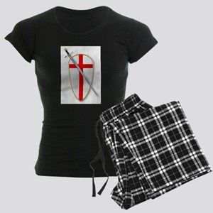 Crusaders Shield and Sword Women's Dark Pajamas