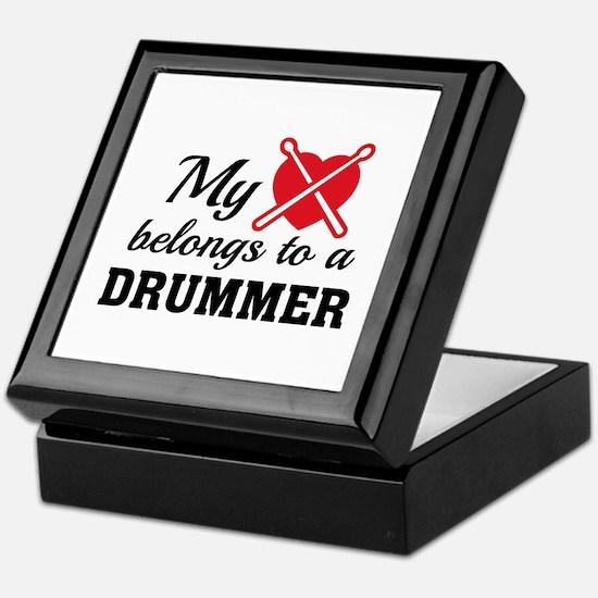 Heart Belongs Drummer Keepsake Box