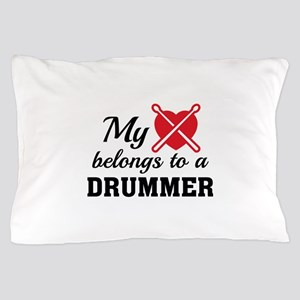Heart Belongs Drummer Pillow Case